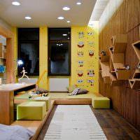 Желтые стены в детской комнате