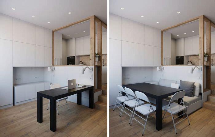 Трансформация интерьера с помощью комбинированной мебели