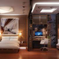 Зонирование комнаты многоуровневым потолком