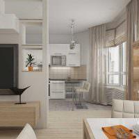 Дизайн кухни-гостиной в трехкомнатной квартире