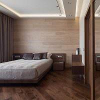 Оформление спальни супругов в коричневых тонах