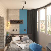 Спальня в утепленной лоджии