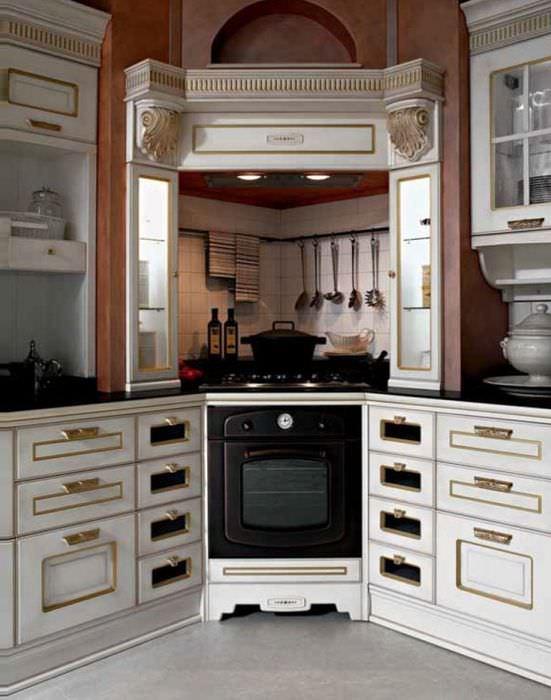 будет казаться дизайн кухни с угловой вытяжкой фото остров артистка