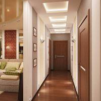 Дизайн вытянутого коридора в современной квартире