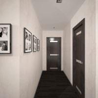 Контрастная отделка узкого коридора