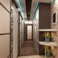 Дизайн вытянутого коридора в современном стиле