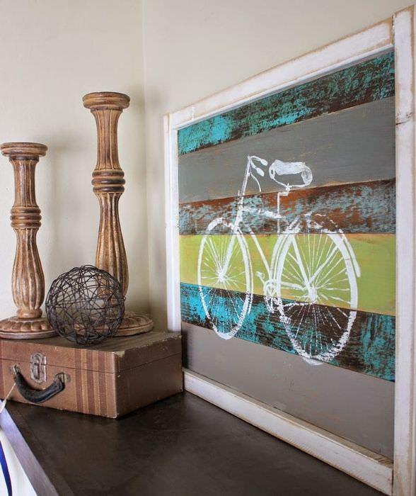 Панно с изображением велосипеда