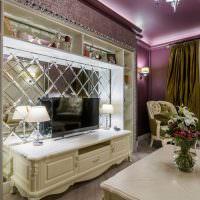 Дизайн гостиной комнаты в стиле арт-деко