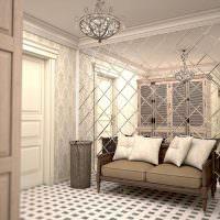 Дизайн прихожей с зеркальной стеной