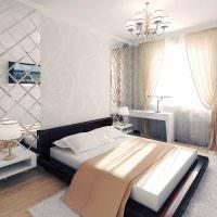 Дизайн спальной комнаты в пастельных оттенках