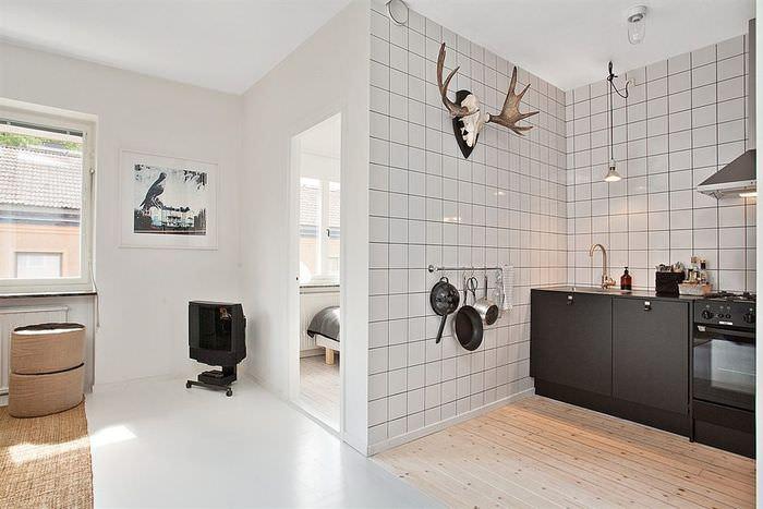 Обустройство зоны кухни в однокомнатной квартире