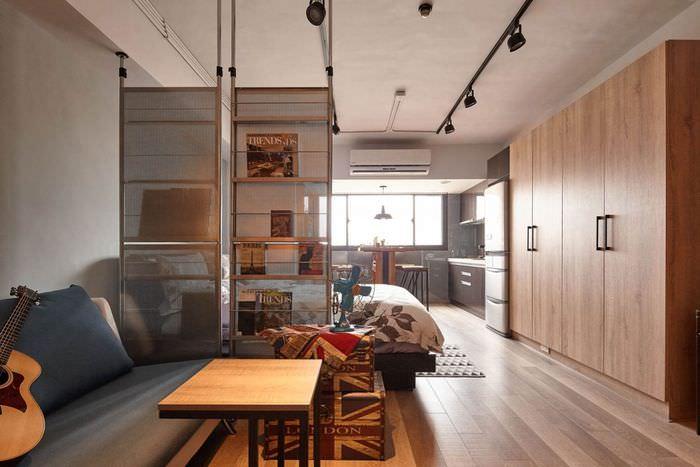 Зонирование квартиры-студии в стиле лофт