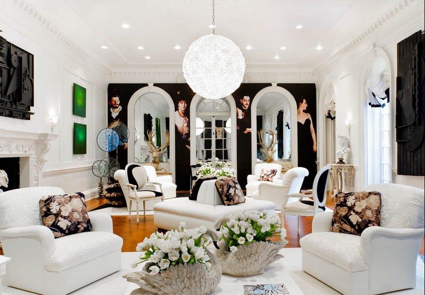 Цветочные композиции в интерьере гостиной