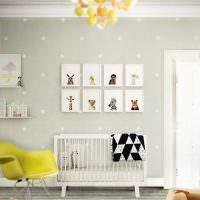 Коллекция детских рисунков над кроваткой для новорожденного