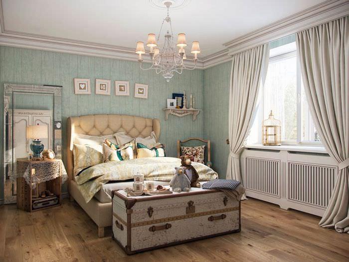 Оформление спальни с элементами прованса