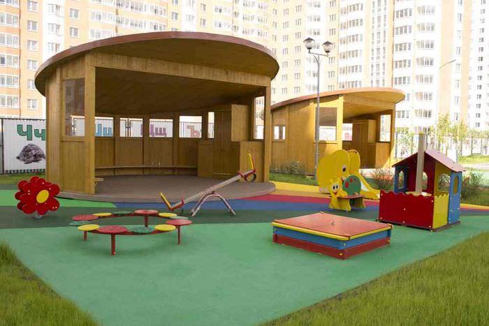 Организация игровой зоны на площадке детского сада