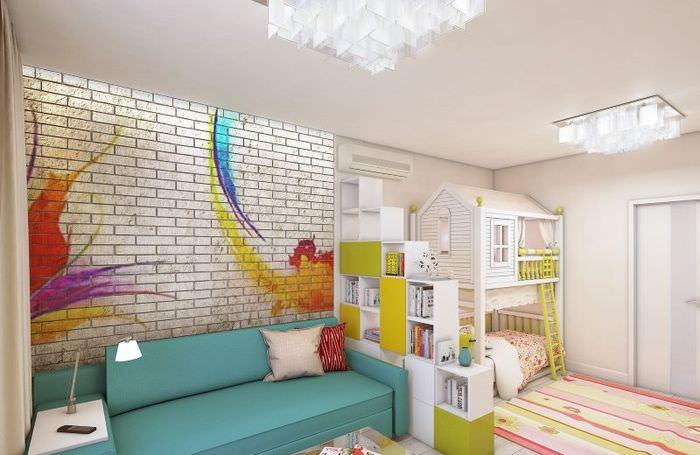 Зонирование детской зоны в однокомнатной квартире