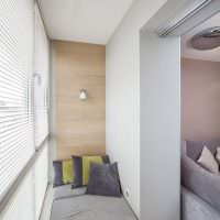 Интерьер балкона в стиле минимализма