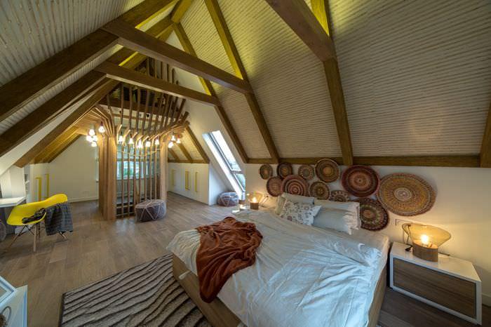 Дизайн мансардного этажа в дачном доме