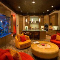 Оформление зоны отдыха в гостиной