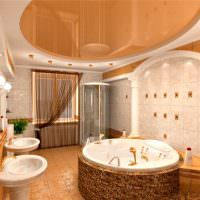 Просторная ванная комната с двумя умывальниками