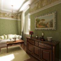 Комод из дерева в дизайне гостиной