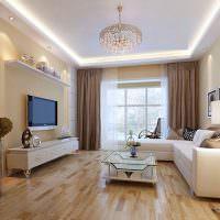 Организация освещения в современной гостиной