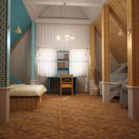 Варианты отделки деревянной обшивки в мансардном помещении