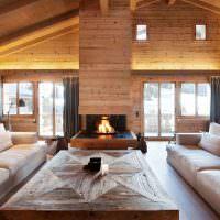 Два дивана в просторной гостиной