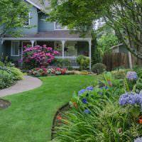 Ландшафтный дизайн внутреннего дворика на садовом участке