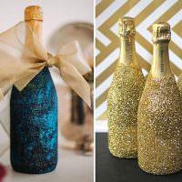 Простые идеи декорирования шампанского