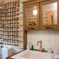 Декор из ракушек в ванной комнате