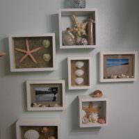 Декорации в рамках на морскую тематику