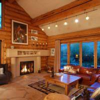 Освещение гостиной с высоким потолком