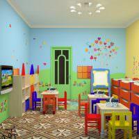 Интерьер комнаты в яслях детского садика
