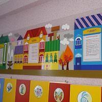 Оформление стены над детскими шкафчиками