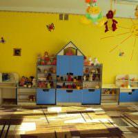 Желтый цвет в дизайне детского сада