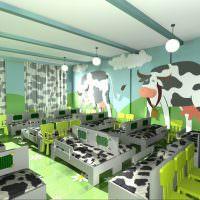 Дизайн группы с коровами на стене