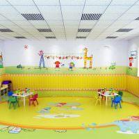 пример оформления стен в детском саду