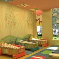 Кроватки-машинки для малышей в детском саду