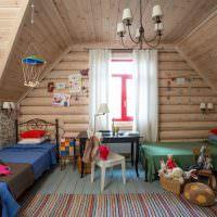 Детская комната в мансардном этаже