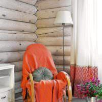 Кресло-качалка в интерьере частного дома