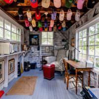 Оформление интерьера летнего домика своими руками