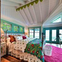 Яркий текстиль в оформление спальной комнаты