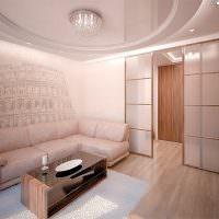 Двухуровневый потолок с натяжным полотном