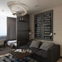Зонирование комнаты легкой перегородкой