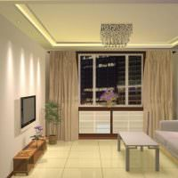 Дизайн гостиной с одним диваном