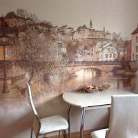 Художественная роспись стены в обеденной зоне