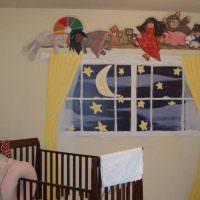 Дизайн детской с имитацией окна