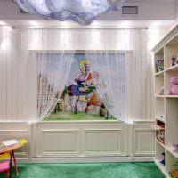 Окно-обманка в интерьере детской